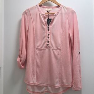 Jane and Delancey Light Pink Waffle Knit Top